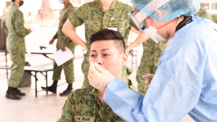 Some NSmen to be swabbed for COVID-19 from October, new methods for mass testing may be used