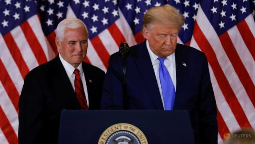 Surrounded by a shrinking circle of aides, a brooding Trump lays into Pence