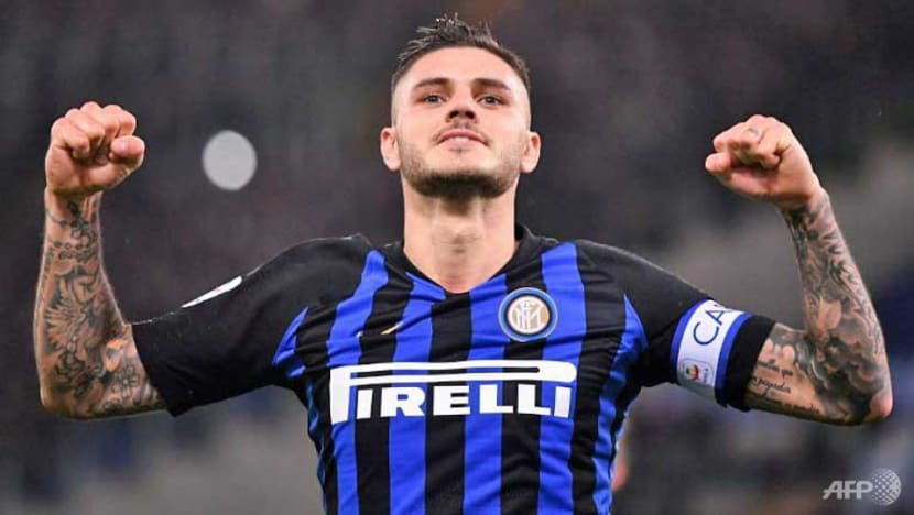 Football: Icardi double lifts Inter Milan second in Serie A
