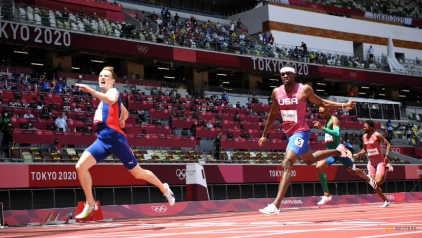 REVIEW-Olympics-Athletics-Amazing records, sprint shocks, but shoe tech clouds the glory