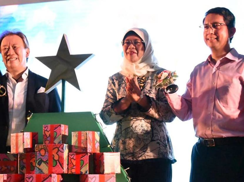 President Halimah Yacob officially opens this year's Orchard Road's Christmas light-up