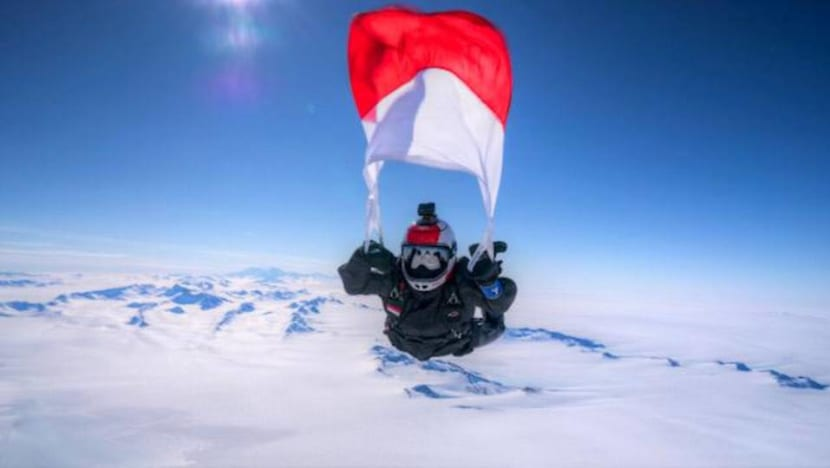 'I love free-falling': From Mount Everest to Antarctica, the sky's the limit for Indonesian female skydiver