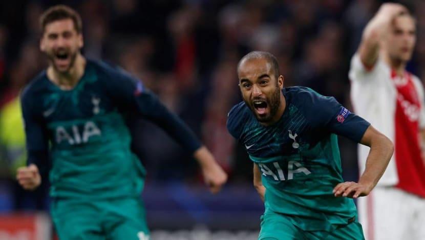 Football: Lucas hat-trick takes Tottenham to Champions League final