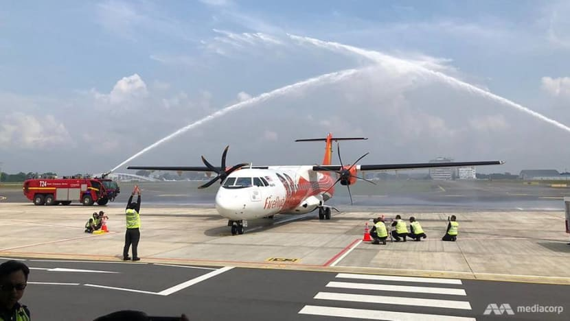 Malaysian carrier Firefly resumes flights to Singapore as first plane lands at Seletar Airport