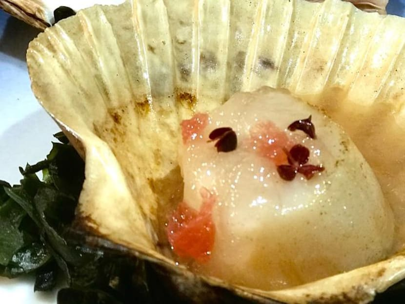 Juicy scallops and braised squid with a Peranakan twist at Magic Square