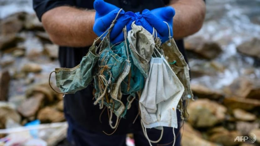 Face masks add to sea pollution at popular Philippines dive site