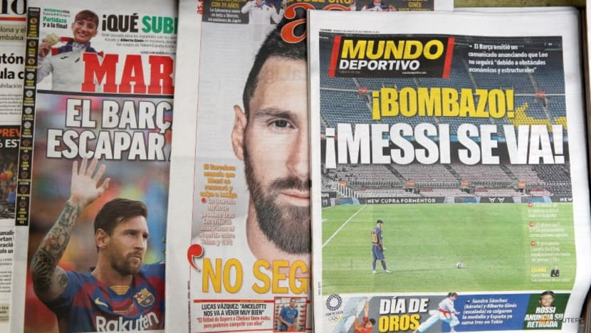 Soccer-Barcelona member files complaints to block Messi move to PSG