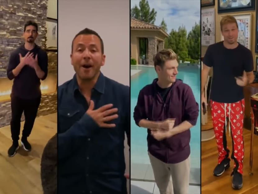 Backstreet Boys band together for virtual rendition of I Want It That Way