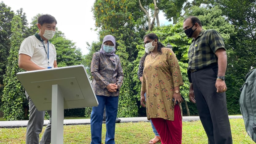 President Halimah shows appreciation to frontline workers with tour of enhanced garden at Istana