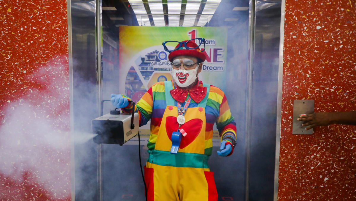 Malaysia's germ-busting clown finds new role in COVID-19 pandemic
