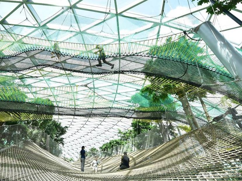 First look at Jewel Changi Airport's Canopy Park, Sky Nets, slides and mazes