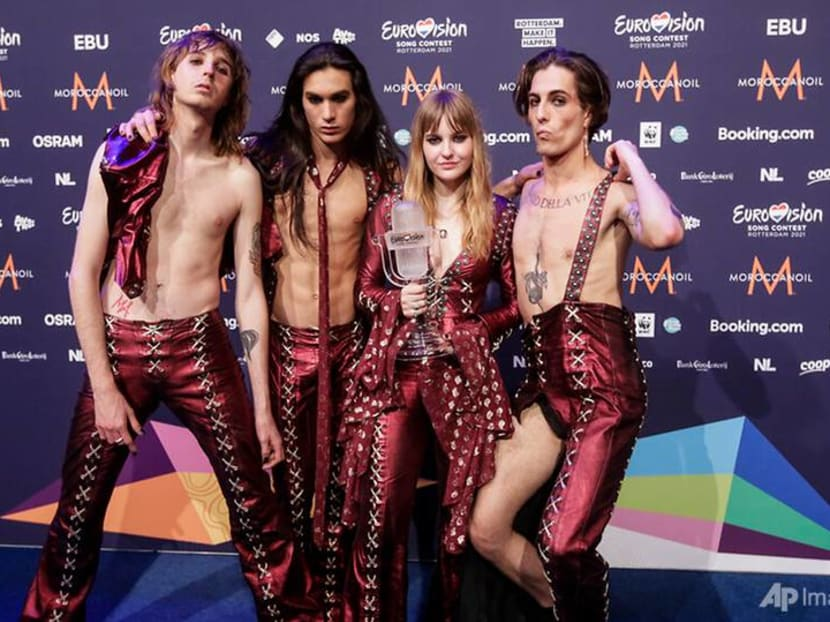 Italy Eurovision winners Maneskin return home to cheers, a drug test