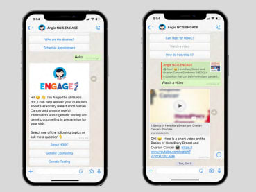 Meet Angie, the WhatsApp chatbot for women at risk of hereditary breast cancer
