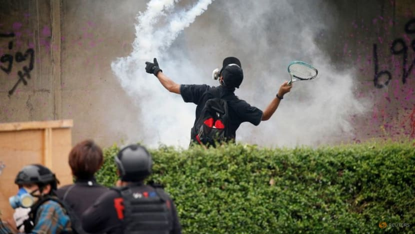 Thai protesters spar with police in march on PM Prayut's residence