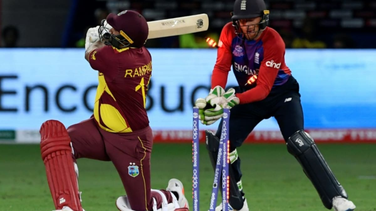 England crush Windies at T20 World Cup, Aussies edge South Africa