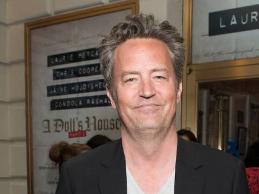Matthew Perry reveals photo of fiancee and she's wearing a Friends T-shirt