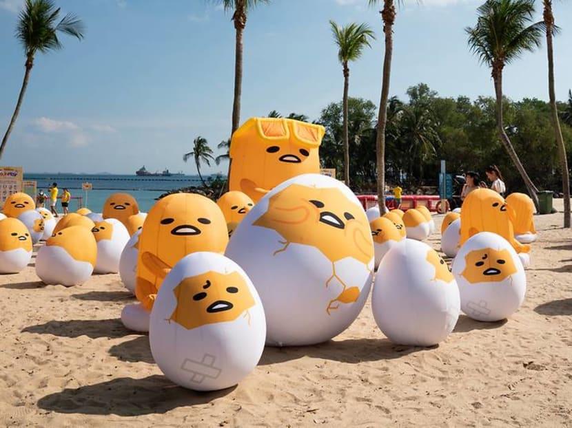 Sunny side up: 800 Gudetamas laze around at Sentosa's FunFest